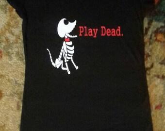 Scraps off The Corpse Bride Play Dead Shirt