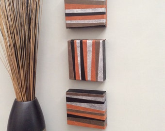 Modern, Original, Handmade, Contemporary Wall Art (set of 3)