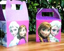 Frozen party Treat Box - favor box - candy box