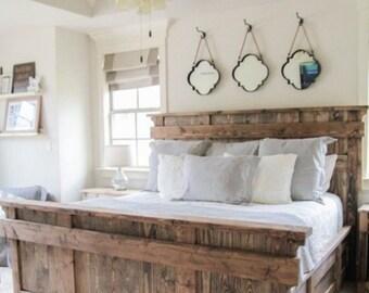 Rustic Barn Style Headboard & Footboard (Queen/Full, King)