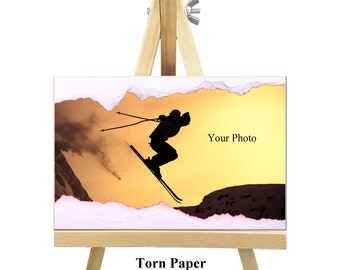 18cm x 12cm Personalized Canvas with Easel - Modern