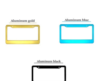 5 different colors Aluminum License Plate Frames,Black,Blue,Gold,Red,Silver