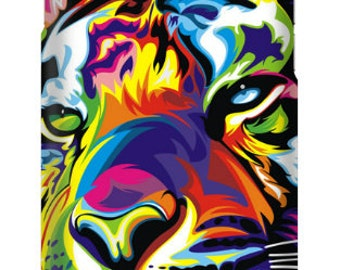 Colorful Artistic Tiger Phone Case for iPhone and Samsung Cases with tempered glass