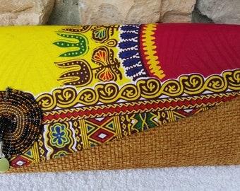 Medium African Print Clutch
