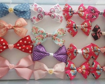 Handmade hair bows, any colour, style or pattens