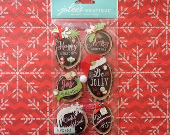 Christmas scrapbook stickers by Jolee's Boutique