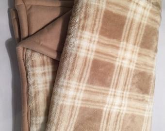 Tan plaid blanket