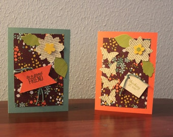"Two 5X7 cards ""Thinking of You"" and ""To a Great Friend"""