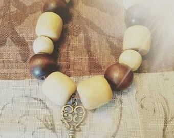 Wood Bead Bracelet