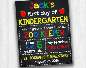 Kindergarten Signs, Grade School Signs, Back To School Signs, 1st Day Of School Signs, First Day Of Kindergarten, Chalkboard Signs