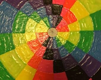 small rainbow swirl