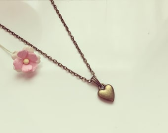 Necklace heart, vintage, love, friendship, heart