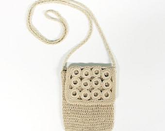 Crochet shoulder bag-Vintage fashion-handmade handbag