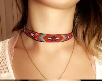 Tribal Pattern Choker