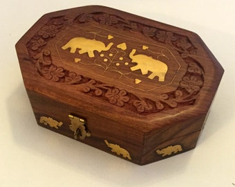 Handmade Elephant Jewelry Box