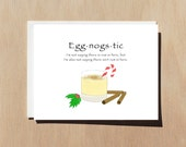 Eggnogstic | Funny Christmas Greeting Card With Envelope