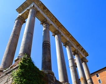 Temple of Saturn Ruins Roman Forum Print + Mat