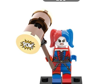Custom Harley Quinn Hammer Minifigure Suicide Squad Mini Figure Toy, Party Favour Gift