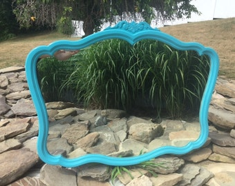 French Style Teal Mirror