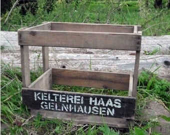 Old wooden box from cellar