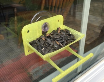 3d printed bird feeder for your window