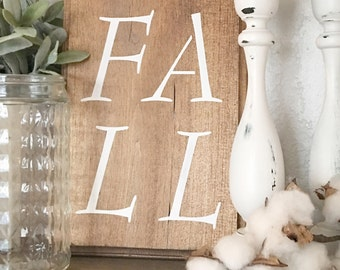 Small Fall Sign