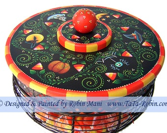 283 Candy Corn Vines Basket Decorative Painting Pattern