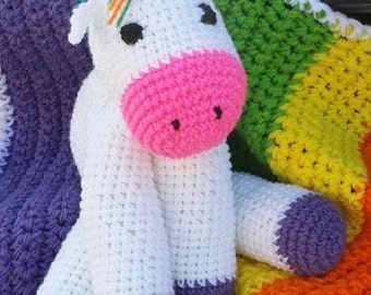 "14"" tall crochet unicorn"
