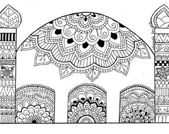 Mosque Colouring Sheet