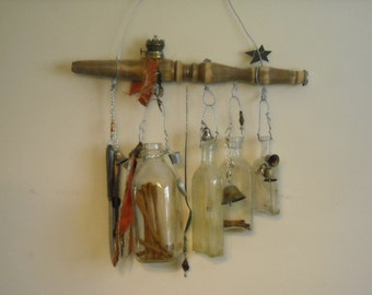 A Bucket & Bells  Vintage Bottle Chime