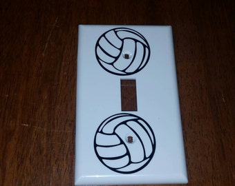 Volleyball light switch cover/switch plate