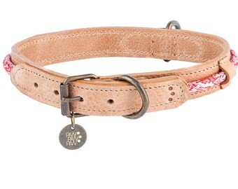 Leather Hafen Collar In Red