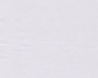 "100% Cotton Sateen White PFD Fabric 57/58"" Wide by the yard R2"