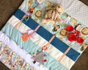 Play Mat - Tummy Time Mat - Baby Quilt - Baby Sensory Mat - Baby Shower Gift - Newborn Infant - Tummy Time Help - Baby Quilt