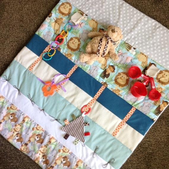Play Mat Tummy Time Mat Baby Quilt Baby Sensory Mat