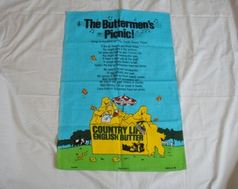 Country Life Butter Teatowel 1983