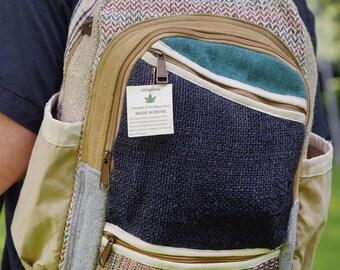 Cream backpack made of hemp (THC-free) / baige