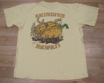 Vintage Hawaii SkinDive Sea gypsies NYC 1970s diving shirt