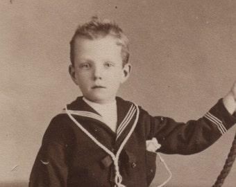 Sailor Boy & Boat CDV Uniform c1880 Phillips Croydon