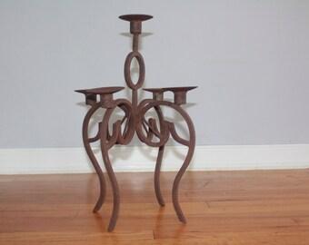 Vintage wrought iron candelabra