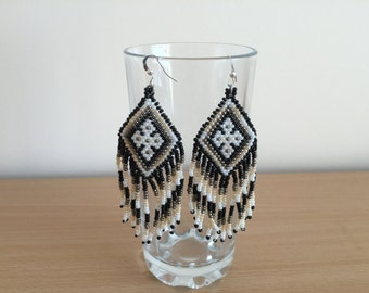 Earrings made of Czech beads