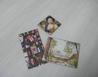Handmade envelopes for Snailmail. Set of 3.