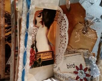Faux Leather Vintage Junk Journal, Inspiration Journal, Notebook, Scrapbook, Writer's Journal, Memory Book....