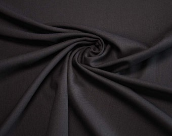 Wool blended worsted fabric, black colour,  bistretch