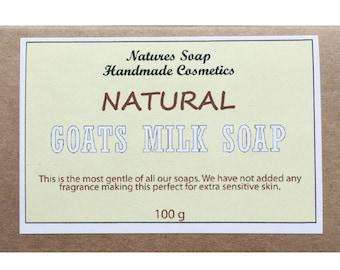 Natural Goats Milk Soap - Natures Soap Handmade Cosmetics