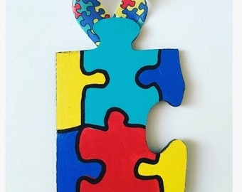 Autism Awareness Puzzle Ornament
