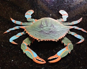 Wooden Hand-painted Crab