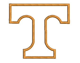 T Tennessee Applique Embroidery Design -INSTANT DOWNLOAD