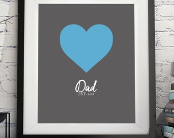 Dad Art Print, Dad Gifts, Dad To Be, Gifts For Dads, Photo Prop, Father Gift, Husband Pregnancy Reveal, Pregnancy Annoucement, New Dad Gift