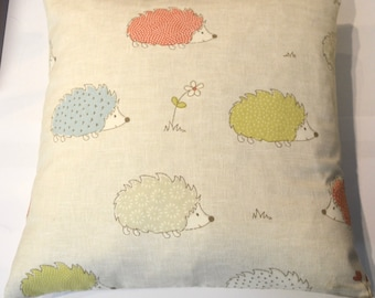 Cute Hedgehog Print Cushion, childrens theme, animal cushion, soft furnishing